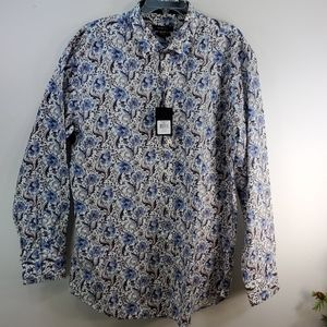 BUGATCHI SHAPED FIT BUTTON DOWN OXFORD SIZE 3X